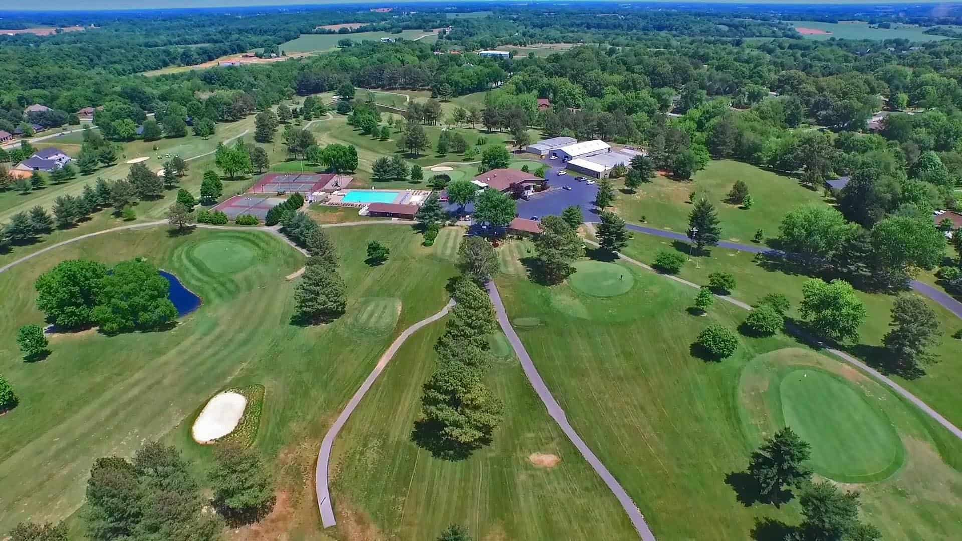 Drone Golf Course Aerial Turf Management Photography